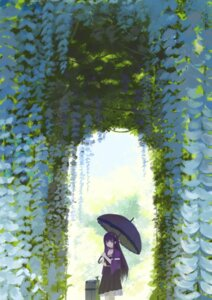 Rating: Safe Score: 32 Tags: blue_(9153585) cleavage dress kushima_kamome landscape summer_pockets umbrella User: yanis