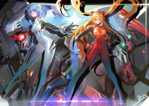 Rating: Safe Score: 30 Tags: ayanami_rei bodysuit mecha neon_genesis_evangelion souryuu_asuka_langley User: Ant1987