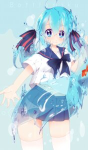 Rating: Safe Score: 10 Tags: bottle_miku hatsune_miku love_fumiki seifuku thighhighs vocaloid User: charunetra