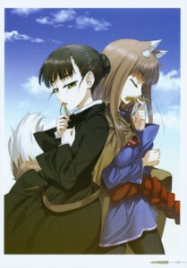 Rating: Questionable Score: 5 Tags: elsa_schtingheim holo koume_keito spice_and_wolf User: kiyoe