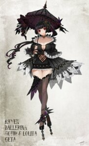 Rating: Safe Score: 40 Tags: apt cleavage gothic_lolita lolita_fashion no_bra thighhighs umbrella User: Mr_GT