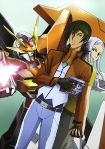 Rating: Safe Score: 4 Tags: allelujah_haptism arios_gundam gun gundam gundam_00 mecha soma_peries uniform User: Radioactive