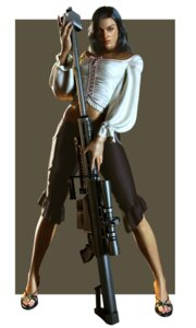 Rating: Safe Score: 5 Tags: cg dead_rising feet gun heels isabela_keyes ueda_keiji User: Radioactive