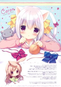 Rating: Questionable Score: 46 Tags: animal_ears brown_sugar bunny_ears chibi coron dress miyasaka_nako neko nekomimi sweater tail User: Twinsenzw