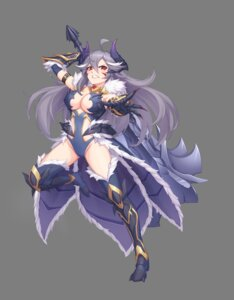 Rating: Questionable Score: 12 Tags: armor cleavage horns leotard no_bra sramy tagme thighhighs weapon User: Dreista