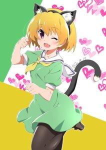 Rating: Safe Score: 20 Tags: animal_ears higurashi_no_naku_koro_ni houjou_satoko nekomimi pantyhose seifuku tagme tail tsuji643163271 User: kurosaki225