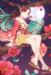Rating: Safe Score: 32 Tags: azit_(down) cleavage japanese_clothes tattoo wings User: Mr_GT