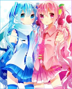 Rating: Questionable Score: 30 Tags: hatsune_miku remi sakura_miku vocaloid yuki_miku User: KazukiNanako