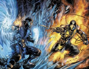 Rating: Safe Score: 20 Tags: ivan_reis male mortal_kombat mortal_kombat_x ninja scorpion sub-zero weapon User: Radioactive