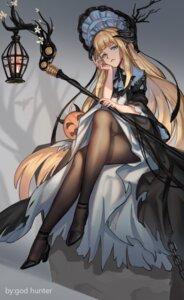 Rating: Safe Score: 34 Tags: arknights god_hunter heels lolita_fashion pantyhose skirt_lift weapon User: Mr_GT