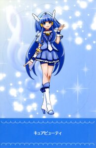 Rating: Questionable Score: 9 Tags: aoki_reika bike_shorts dress heels pretty_cure smile_precure! User: drop