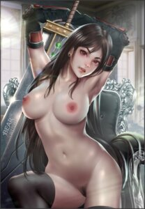Rating: Explicit Score: 24 Tags: bearwitch final_fantasy final_fantasy_vii naked nipples pubic_hair pussy sword thighhighs tifa_lockhart User: Darkthought75