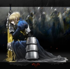 Rating: Safe Score: 22 Tags: armor blood dress fate/stay_night fate/zero monkey_buonarroti saber sword User: sylver650