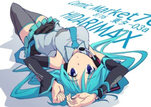 Rating: Safe Score: 25 Tags: hatsune_miku headphones katochin thighhighs vocaloid User: Radioactive