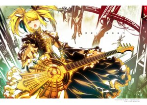 Rating: Safe Score: 38 Tags: dress guitar kagamine_rin meltdown_(vocaloid) ress vocaloid User: fairyren