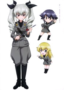 Rating: Safe Score: 16 Tags: anchovy carpaccio chibi girls_und_panzer heels pepperoni uniform weapon User: drop