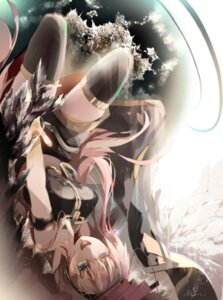 Rating: Safe Score: 31 Tags: autographed megurine_luka saihate thighhighs vocaloid User: charunetra