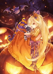 Rating: Safe Score: 30 Tags: dress halloween lira_mist neko pantyhose User: Radioactive