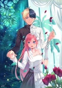 Rating: Safe Score: 26 Tags: 5-toubun_no_hanayome cleavage da-cart dress nakano_nino uesugi_fuutarou wedding_dress User: yanis