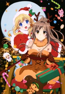Rating: Safe Score: 144 Tags: amagi_brilliant_park animal_ears christmas cleavage dress horns latifah_fleuranza sento_isuzu thighhighs User: drop