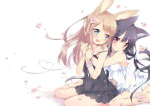 Rating: Safe Score: 11 Tags: animal_ears bunny_ears dress ech nekomimi see_through yuri User: 蕾咪