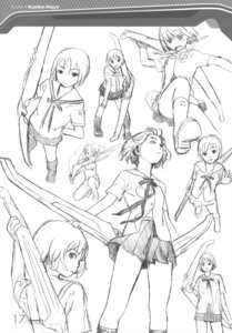 Rating: Safe Score: 7 Tags: character_design houjou_kuniko monochrome range_murata seifuku shangri-la sketch User: Share