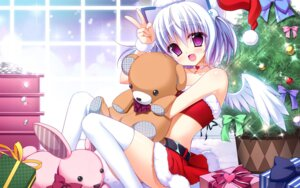 Rating: Safe Score: 64 Tags: 1000-chan christmas nanaca_mai oizumi thighhighs wallpaper wings User: Mr_GT