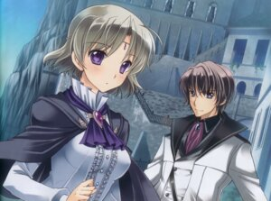 Rating: Safe Score: 17 Tags: aiyoku_no_eustia august lucius_dis_mireille sistina_uyl tagme User: Anonymous