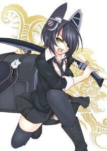 Rating: Questionable Score: 17 Tags: kantai_collection sword tenryuu_(kancolle) thighhighs utakata User: 椎名深夏