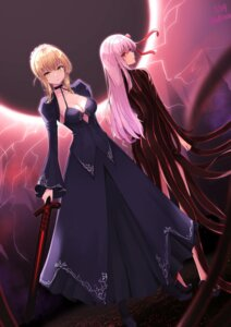 Rating: Safe Score: 28 Tags: cleavage dark_sakura dress fate/stay_night fate/stay_night_heaven's_feel heels matou_sakura saber saber_alter shiina_aoi sword User: Arsy