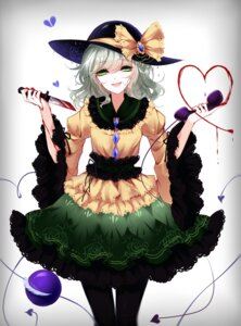 Rating: Safe Score: 27 Tags: blood dress komeiji_koishi pantyhose sheya touhou weapon yandere User: Mr_GT