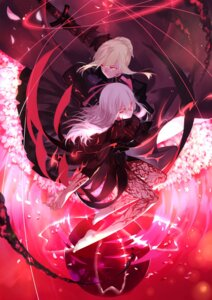 Rating: Safe Score: 42 Tags: armor dark_sakura dress fate/stay_night joseph_lee matou_sakura saber saber_alter sword User: zero|fade