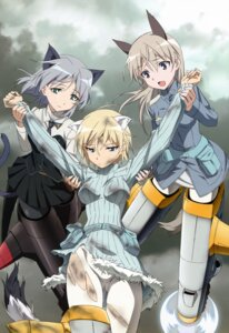 Rating: Safe Score: 51 Tags: animal_ears dress eila_ilmatar_juutilainen kitsune mecha_musume nekomimi nikka_edvardine_katajainen pantyhose sanya_v_litvyak strike_witches tail torn_clothes uniform yamakawa_kouji User: Jigsy