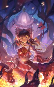 Rating: Safe Score: 29 Tags: hakurei_reimu kirino_(codec007) miko monster sarashi touhou yakumo_yukari User: Mr_GT
