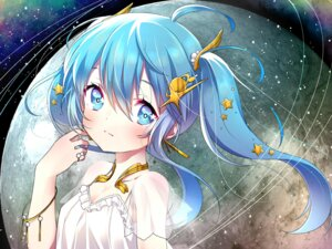 Rating: Safe Score: 38 Tags: cleavage hatsune_miku see_through suzuki_moeko vocaloid wallpaper User: yong