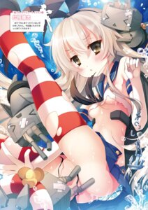 Rating: Questionable Score: 61 Tags: kantai_collection katagiri_hinata nopan rensouhou-chan shimakaze_(kancolle) thighhighs torn_clothes underboob User: dandan550