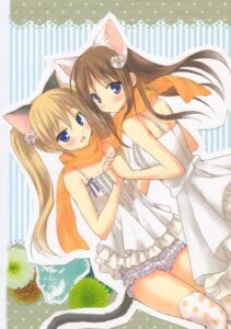 Rating: Safe Score: 41 Tags: animal_ears dress komiya_yuuta nekomimi tail thighhighs User: blooregardo