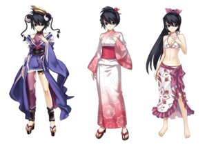 Rating: Safe Score: 32 Tags: ar_tonelico bikini cleavage cross_edge gust_(company) hirano_katsuyuki japanese_clothes misha_arsellec_lune swimsuits thighhighs yukata User: Radioactive