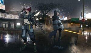 Rating: Safe Score: 19 Tags: angel animal_ears arknights exusiai_(arknights) gun hamachi_hazuki sword tail texas_(arknights) wet wings User: Arsy
