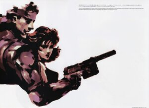 Rating: Safe Score: 7 Tags: bleed_through gun konami meryl_silverburgh metal_gear metal_gear_solid shinkawa_yoji solid_snake User: Radioactive