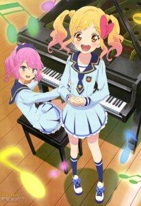 Rating: Safe Score: 19 Tags: aikatsu! aikatsu_stars! nijino_yume sakuraba_rola seifuku watanabe_satomi User: drop