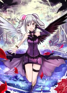 Rating: Safe Score: 38 Tags: dress garter kanzaki_ranko nerotarou@seven the_idolm@ster the_idolm@ster_cinderella_girls wings User: Mr_GT