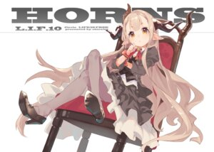 Rating: Safe Score: 34 Tags: dress heels horns pantyhose pointy_ears shirabi User: KazukiNanako