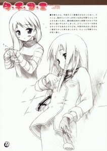Rating: Safe Score: 10 Tags: 5_nenme_no_houkago kantoku monochrome sakura_musubi sera_karen sketch User: Kalafina