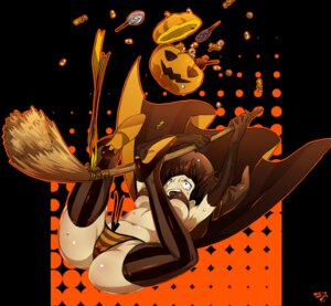 Rating: Questionable Score: 23 Tags: arisawa_kuro bikini cameltoe halloween heels swimsuits thighhighs underboob witch User: Mr_GT