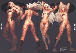 Rating: Questionable Score: 6 Tags: ass bikini_armor crease heels tagme tattoo thong User: Radioactive