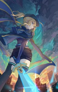 Rating: Safe Score: 20 Tags: fate/grand_order heroine_x kotatsu_kaya sword tagme thighhighs User: Mr_GT