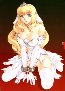 Rating: Questionable Score: 28 Tags: bondage cleavage dress kanesada_keishi pantsu thighhighs torn_clothes wedding_dress User: Radioactive