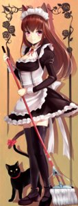 Rating: Safe Score: 46 Tags: animal_ears cleavage dress maid neko nekomimi pn2_maru thighhighs User: Mr_GT