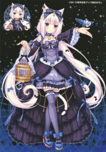 Rating: Safe Score: 90 Tags: animal_ears chibi dress gothic_lolita heels lolita_fashion neko_para neko_works nekomimi sayori tagme tail thighhighs vanilla User: Twinsenzw